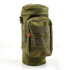 Army Green Tactical Molle Water Bottle Hydration Pouch Bag Carrier for Hiking