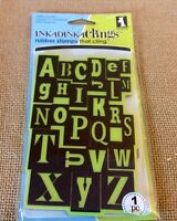 =lotd 1 Inkadinkaclings Large Alphabet Abc's Cling Rubber Stamp Cardmaker Craft