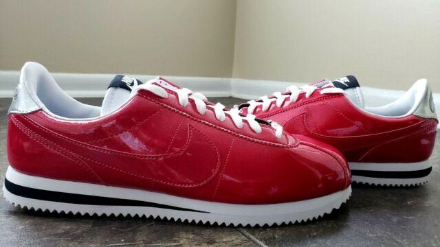 new style cd0ed bc9f4 Nike Cortez Basic Premium QS Patent Leather Vivid Gym Red 819721-600 Sz 10  RARE