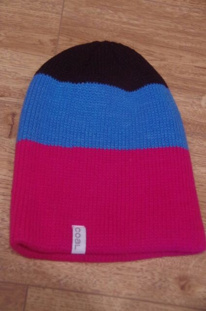 4c76c723c38 Coal Frena Stripe Beanie in Pink blue black - Casual Hats 1size Fits ...
