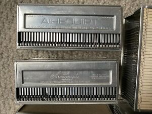 Vintage Airequipt slide holders. 8 holders for 2x2 pictures. Each holds 36