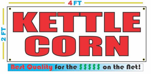 2x4 KETTLE CORN Banner Sign NEW Discount Size