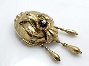 Antike Biedermeier Brosche Nadel Mit Perle In Schaumgold Um 1880