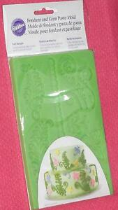 Ferns-Dragonflies-and-butterflies-Wilton-Silicone-Fondant-Mold-409-2548-Green
