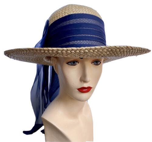 Vintage Happy Cappers Straw Beach Sun Hat Los Ange