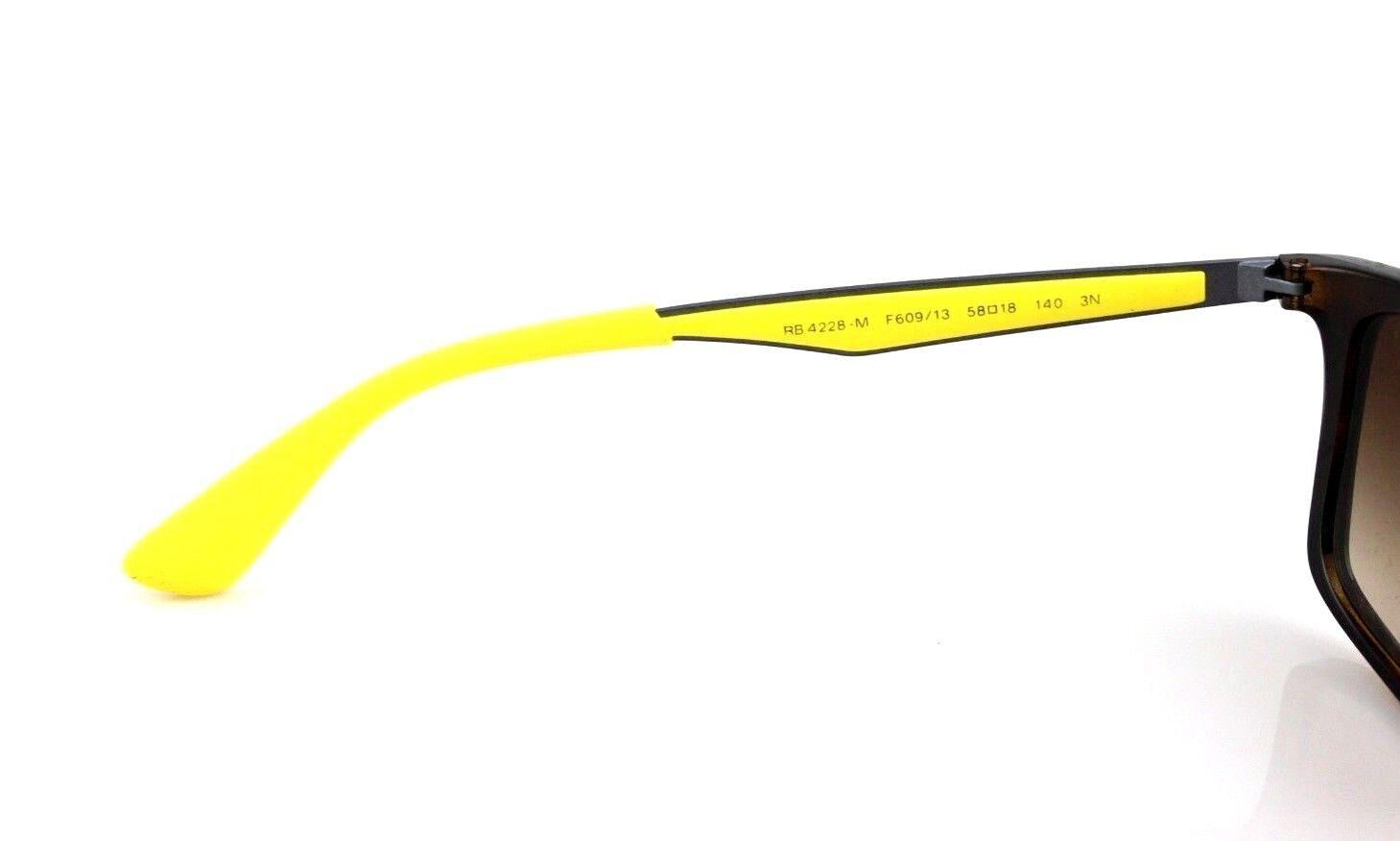 6cfdb17590e Scuderia Ferrari Ray-Ban Tortoise Yellow Sunglasses RB 4228-m F60913 58 Mm  for sale online