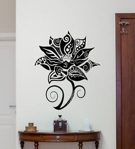 Lotus Flower Wall Decal Yoga Studio Namaste Vinyl Sticker Bedroom