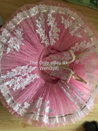 Adult Professional Ballet Platter Kid Tutu Skirt Dance Dress Ballet Pink Costume