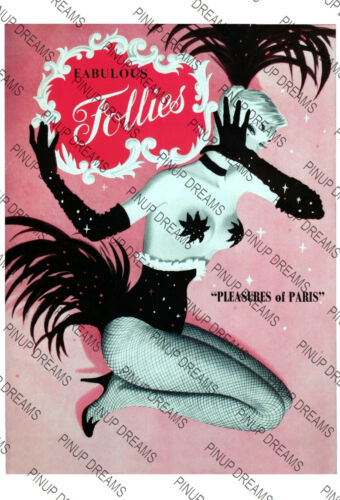 Wall Poster Art Burlesque Fabulous Follies Pin-up Retro Re-Print Cult A4 A3 A3+