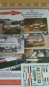 DECALS-1-18-REF-861-PEUGEOT-205-T16-METIFFIOT-RALLYE-MONTE-CARLO-1986-RALLY-WRC