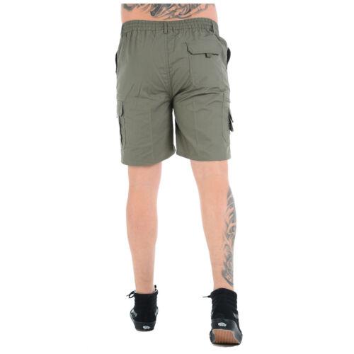 Pantaloncini da Uomo Cargo Combat Elasticizzata Ragazzi Casual estate spiaggia Poly Cotone Pantaloni