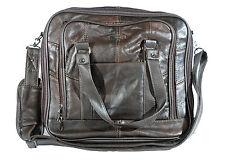Lorenz Unisex Brown Leather Office Work Travel Overnight Shoulder Bag [3799]