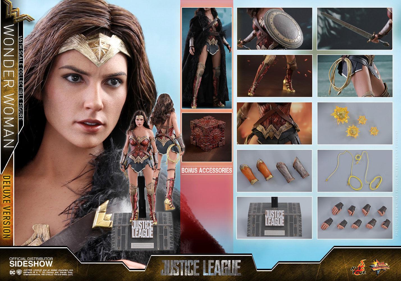 HOT TOYS Liga De La Justicia Mujer Maravilla Deluxe 16 Sexta Escala Figura de Acción MMS451