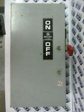 Ge Th3363j Model 7 100 Amp 600 Volt 3p3w Nema 12 Fusible Disconnect