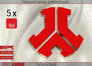 Details about 5x Fresh Hardstyle Defqon 1 Vinyl Decal Sticker Red 60x55mm  2 2 x 2 4in (DQ102)