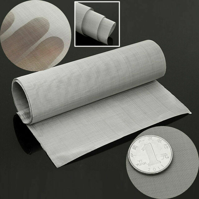 Edelstahl 100 mesh Filtration 300mm x 900mm Drahtgewebe Gaze Silber Filter