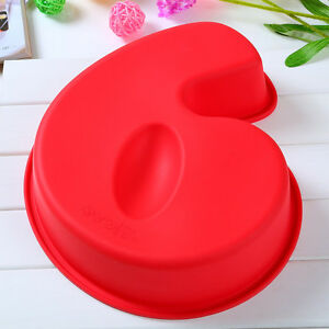 large silicone number 6 cake mould pan baking tin birthday. Black Bedroom Furniture Sets. Home Design Ideas