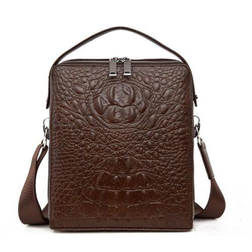 Alligator Men Leather Handbag Business Briefcase Shoulder Messenger Bags Satchel