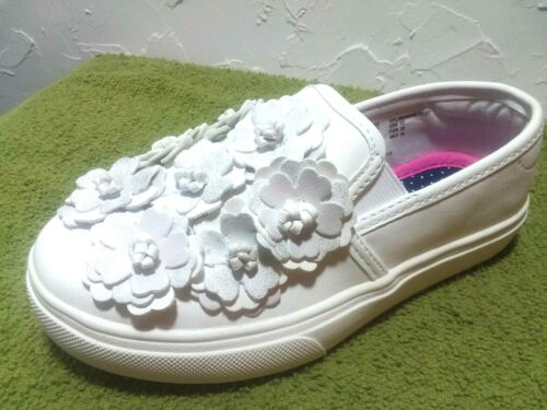 """YOUTH GIRLS /""""MOST SIZES/"""" /""""WHITE FLOWER GORE/"""" PREMIUM Casual Shoes WONDER NATION"""
