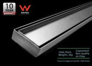 1500mm-Tile-Insert-Stainless-Steel-Shower-Bathroom-Grate-Drain-034-2mm-034-thickness