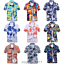 Mens-Hawaiian-T-Shirt-Summer-Floral-Printed-Beach-Short-Sleeve-Tops-Blouse-Hot thumbnail 4