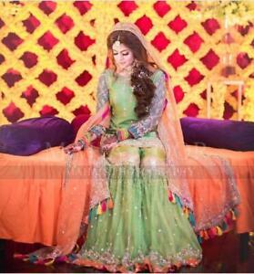 Maria-b-Zainab-chotani-Mehndi-chiffon-dress-2019-Asim-jofa-Maria-b-kashe-Zainab