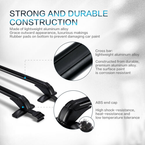 Universal Car Anti Theft Car Roof Cross Bars Without Rails Lockable Rack Clamp