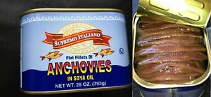 Big-Anchovies-FLAT-Fillets-in-Oil-793gm-034-28-OZ-034-Anchovy-TASTY-FREE-SHIP-SAVE