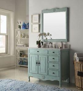 38 Benton Collection Distressed Light Blue Daleville Bathroom