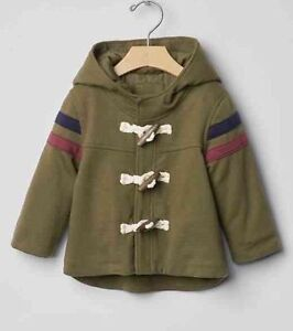 85bad0220169 GAP Baby Boys NWT Size 6-12 Months Green Toggle Coat Parka Puffer ...