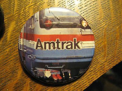 Amtrak American Passenger Railroad Train USA Logo Advertisement Pocket Mirror