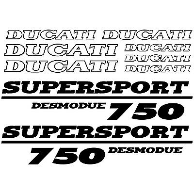 DUCATI Supersport 750 Desmodue DECALS in GOLD and SILVER