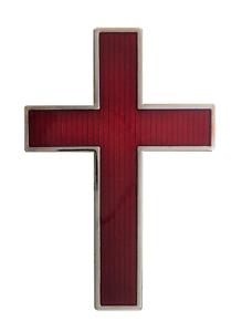 Cross Nickel-Plated Red Enamel Large Symbol For Royal Black Collarette
