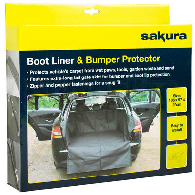 WINTER Heavy Duty Waterproof Car Boot Liner Mat /& Bumper Protector Pet Fishing