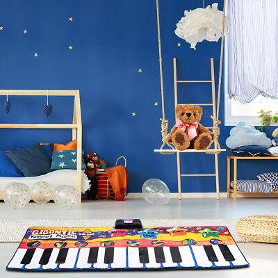 Kinder Musikmatte Klaviermatte Spielteppich Spielmatte Musik mit 8 Instrumenten