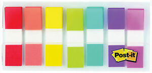3M-Post-It-Flags-7-Colors-47-034-x-1-7-034-11-9mm-x-43-2mm-190pk