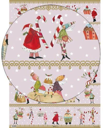 * Regalo de Navidad SILKE LEFFLER envolviendo los 50x70cm-dulce-Navidad pastel