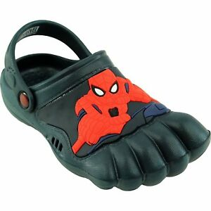 1b6a03e21007 NEW SpiderMan Kids Navy Silly Feet Clogs Shoes 01975 Toddlers 5 6 7 ...