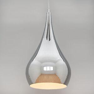 Modern designer teardrop ceiling pendant light chrome medium ebay image is loading modern designer teardrop ceiling pendant light chrome medium aloadofball Images