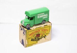 Lesney-Matchbox-N-17-Bedford-eliminaciones-van-en-su-caja-original-Nr-modelo-de-menta