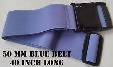 50 mm luz azul en la cintura cinturón correa elástica elástico de 40 pulgadas de largo