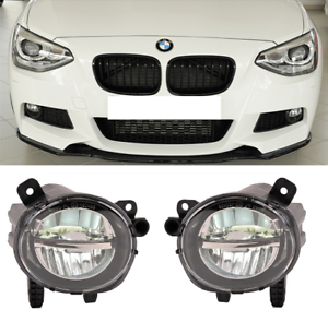 Pair clear foglamps foglights Fogs fog lamps lights Bmw 3 series F30 F31 UK