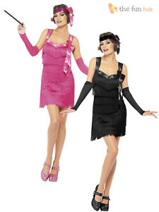 07efcef5f9bd Ladies Flapper Costume Charleston 1920 s Fancy Dress Womens Outfit ...