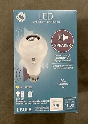Speaker Bulb A21 Soft White 60 Watt BLUETOOTH Link Up To 10 GE 93100352 LED