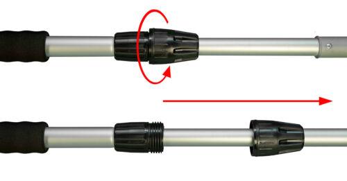 YACHTICON-Linge Brosses Manche 2 Pièces 90-168 cm Rechange télescopique manche aluminium