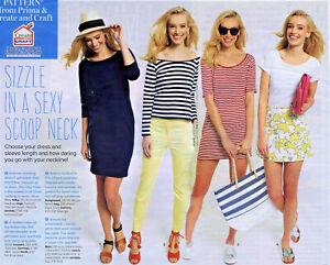 Off-Shoulder-Scoop-Neck-DRESS-TOP-T-Shirt-Prima-Sewing-Pattern-10-12-14-16-18-20