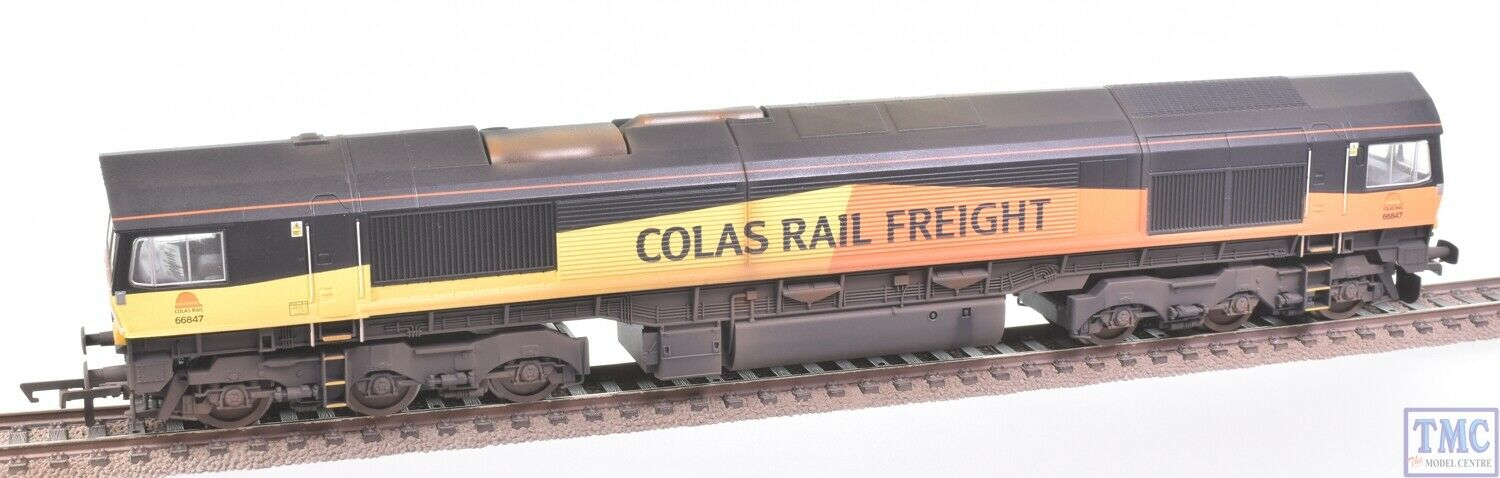 R3787 Hornby OO Gauge Colas Rail Freight Class 66 Co-Co 66847 (Era 10) Weathered