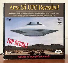 """Testors Area 51 S4 UFO Revealed Model Kit 1:48 Scale 1994 13"""" Diameter Near Mint"""