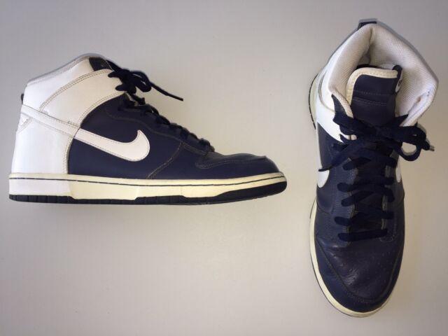 buy popular 48e85 f43ed Nike Dunk High 2006 309432-411 VP Navy Blue White Leather Size 11 Euro 45  UK 10