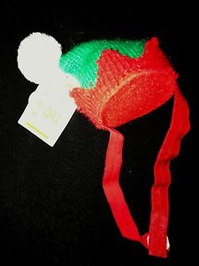 152cbc1c6ba2d baby boy or girl CHRISTMAS ELF HAT INFANT SIZE NEW NWT CARTERS pom ...